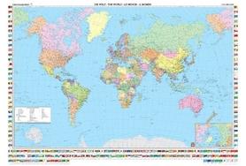 ŚWIAT mapa ścienna polityczna w metalowej ramie j.angielski 1:35 000 000 FREYTAG & BERNDT