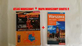 Warszawa, moje miasto +59, atlas + mapa Waszaway GRATIS !! DEMART