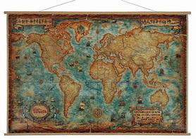 Świat antyczny - MAPA ŚCIENNA  Piękna mapa ozdobna. WĘZŁY