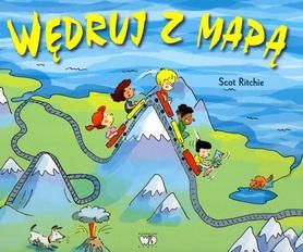 WĘDRUJ Z MAPĄ Książka edukacyjna dla dzieci wyd. DEBIT