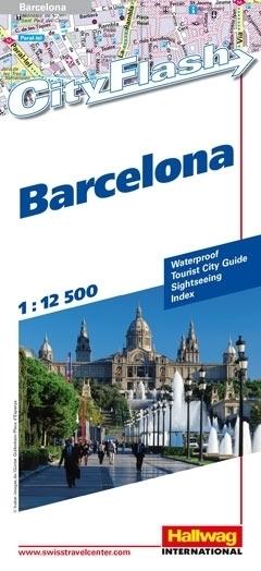 BARCELONA wodoodporny plan miasta 1:12 500 HALLWAG