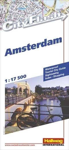 AMSTERDAM wodoodporny plan miasta 1:17 500 HALLWAG