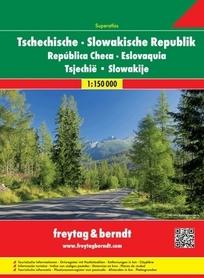 CZECHY SŁOWACJA atlas samochodowy 1:150 000 FREYTAG & BERNDT