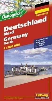 NIEMCY PÓŁNOCNE Euro map Deutschland Nord mapa samochodowa 1:500 000 HALLWAG