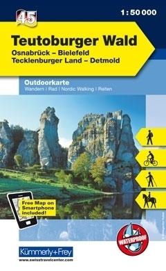 TEUTOBURGER WALD wodoodporna mapa turystyczna 1:50 000 KUMMERLY FREY