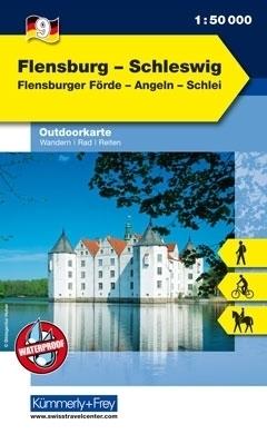 SZLEZWIK - FLENSBURG wodoodporna mapa turystyczna 1:50 000  KUMMERLY FREY