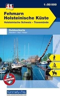 FEHMARN - HOSTEINISCHE KUSTE wodoodporna mapa turystyczna 1:50 000  KUMMERLY FREY