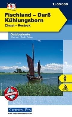 FISCHLAND - DARSS - KUHLUNGSBORN wodoodporna mapa turystyczna 1:50 000  KUMMERLY FREY