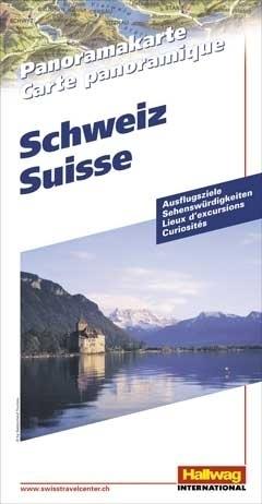 SZWAJCARIA Switzerland mapa panoramiczna HALLWAG