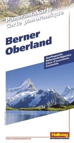 SZWAJCARIA OBERLAND BERNEŃSKI Bernese Oberland mapa panoramiczna HALLWAG