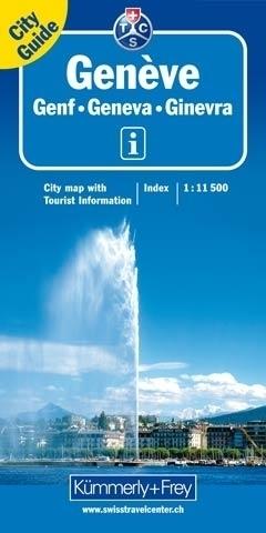 GENEWA GENEVE plan miasta 1:11 500 Kummerly & Frey