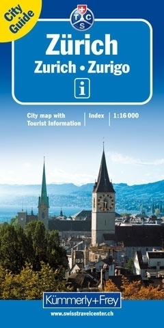 ZURYCH ZURICH plan miasta 1:16 000 Kummerly & Frey