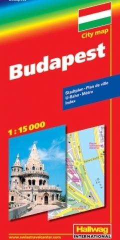 WĘGRY BUDAPESZT Budapest mapa turystyczna 1:15 000 HALLWAG
