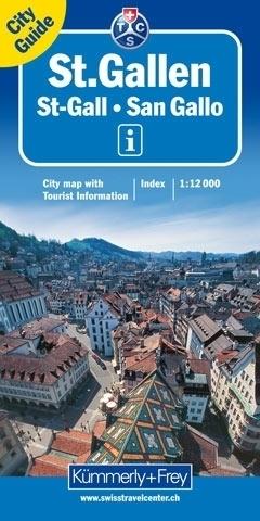 SANKT GALLEN plan miasta 1:12 000 Kummerly & Frey