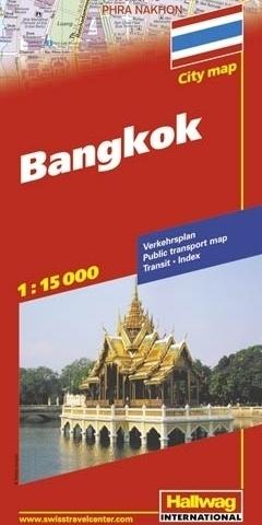 TAJLANDIA BANGKOK plan miasta 1:15 000 HALLWAG