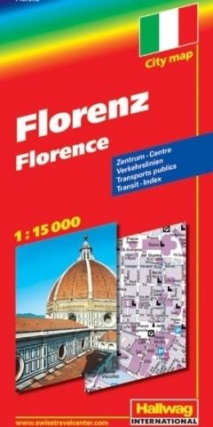 WŁOCHY FLORENCJA Florence plan miasta 1:15 000 HALLWAG