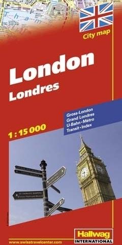 LONDYN London plan miasta 1:15 000 HALLWAG