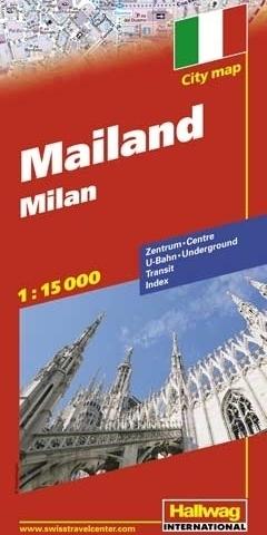 MEDIOLAN Milano plan miasta 1:15 000 HALLWAG