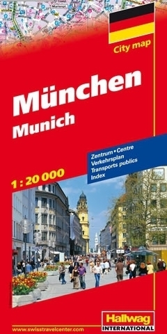 MONACHIUM Munich plan miasta 1:20 000 HALLWAG