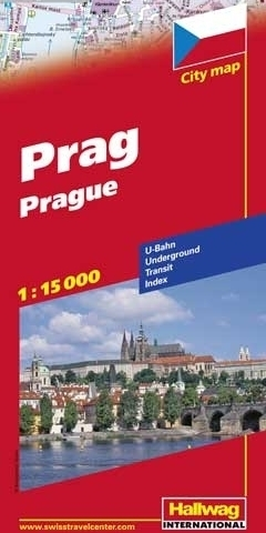 PRAGA Prague plan miasta 1:15 000 HALLWAG