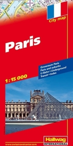 PARYŻ Paris plan miasta 1:15 000 HALLWAG