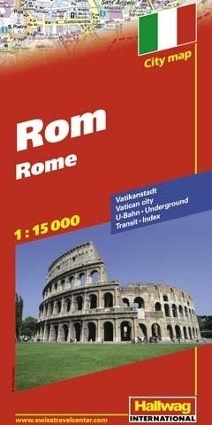 RZYM Rome plan miasta 1:15 000 HALLWAG