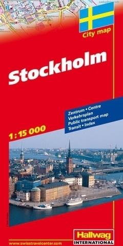 SZTOKHOLM Stockholm plan miasta 1:15 000 HALLWAG