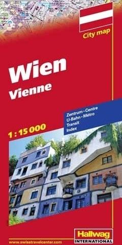 WIEDEŃ Vienna plan miasta 1:15 000 HALLWAG