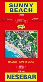 NESEBAR SUNNY BEACH - RAVDA - SVETI VLAS mapa turystyczna 1:7 000 DOMINO