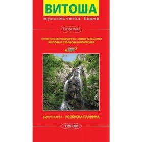 WITOSZA GÓRY (Bułgaria) Vitosha Mountain mapa turystyczna 1:25 000 DOMINO