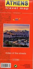 ATENY (Grecja) Athens plan miasta 1:12 000 DOMINO