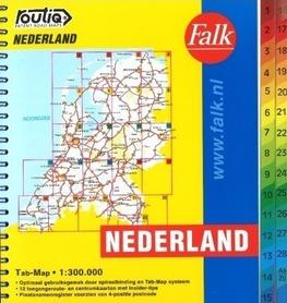 HOLANDIA atlas samochodowy 1:300 000 FALK