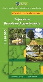 POJEZIERZE SUWALSKO-AUGUSTOWSKIE mapa turystyczna 1:110 000 DAUNPOL