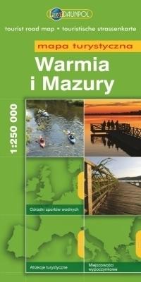 WARMIA I MAZURY mapa turystyczna 1: 250 000 DAUNPOL