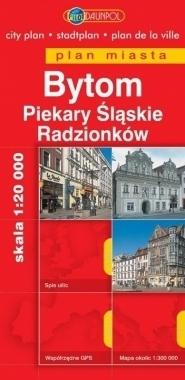 BYTOM PIEKARY ŚLĄSKIE RADZIONKÓW plan miasta 1:20 000 DAUNPOL