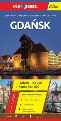 GDAŃSK plan miasta plastik 1:22 500 EUROpilot