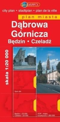 DĄBROWA GÓRNICZA BĘDZIN CZELADŹ plan miasta 1:20 000 DAUNPOL