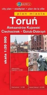 TORUŃ ALEKSANDRÓW KUJAWSKI CIECHOCINEK GOLUB-DOBRZYŃ plan miasta 1:20 000 DAUNPOL