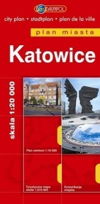 KATOWICE plan miasta 1:20 000 DAUNPOL