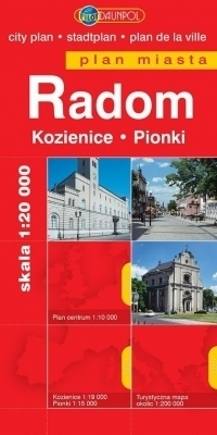 RADOM KOZIENICE PIONKI plan miasta 1:20 000 DAUNPOL