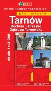 TARNÓW BOCHNIA BRZESKO DĄBROWA TARNOWSKA plan miasta 1:13 000 DAUNPOL