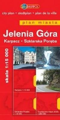 JELENIA GÓRA KARPACZ SZKLARSKA PORĘBA plan miasta 1:15 000 DAUNPOL