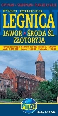 LEGNICA JAWOR ŚRODA ŚL. ZŁOTORYJA plan miasta 1:15 000 DAUNPOL