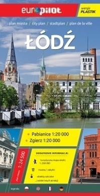 ŁÓDŹ plan miasta plastik 1:24 500 EUROpilot
