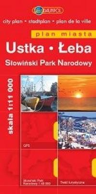 USTKA ŁEBA SŁOWIŃSKI PN plan miasta 1:11 000 DAUNPOL