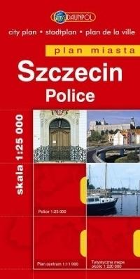 SZCZECIN POLICE plan miasta 1:25 000 DAUNPOL