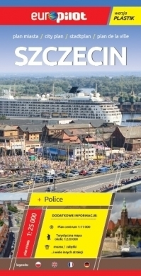 SZCZECIN plan miasta plastik 1:25 000 EUROpilot