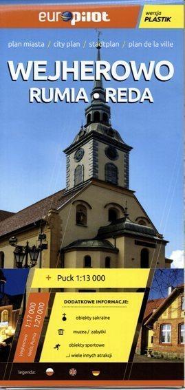 WEJHEROWO RUMIA REDA plan miasta plastik 1:17 000 EUROpilot