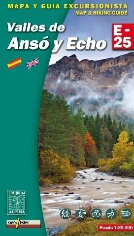 VALLES DE ANSO Y ECHO mapa turystyczna 1:25 000 ALPINA EDITORIAL