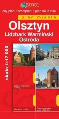 OLSZTYN LIDZBARK WARMIŃSKI OSTRÓDA plan miasta 1:17 000 DAUNPOL